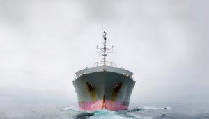 Garrets provision ship at sea