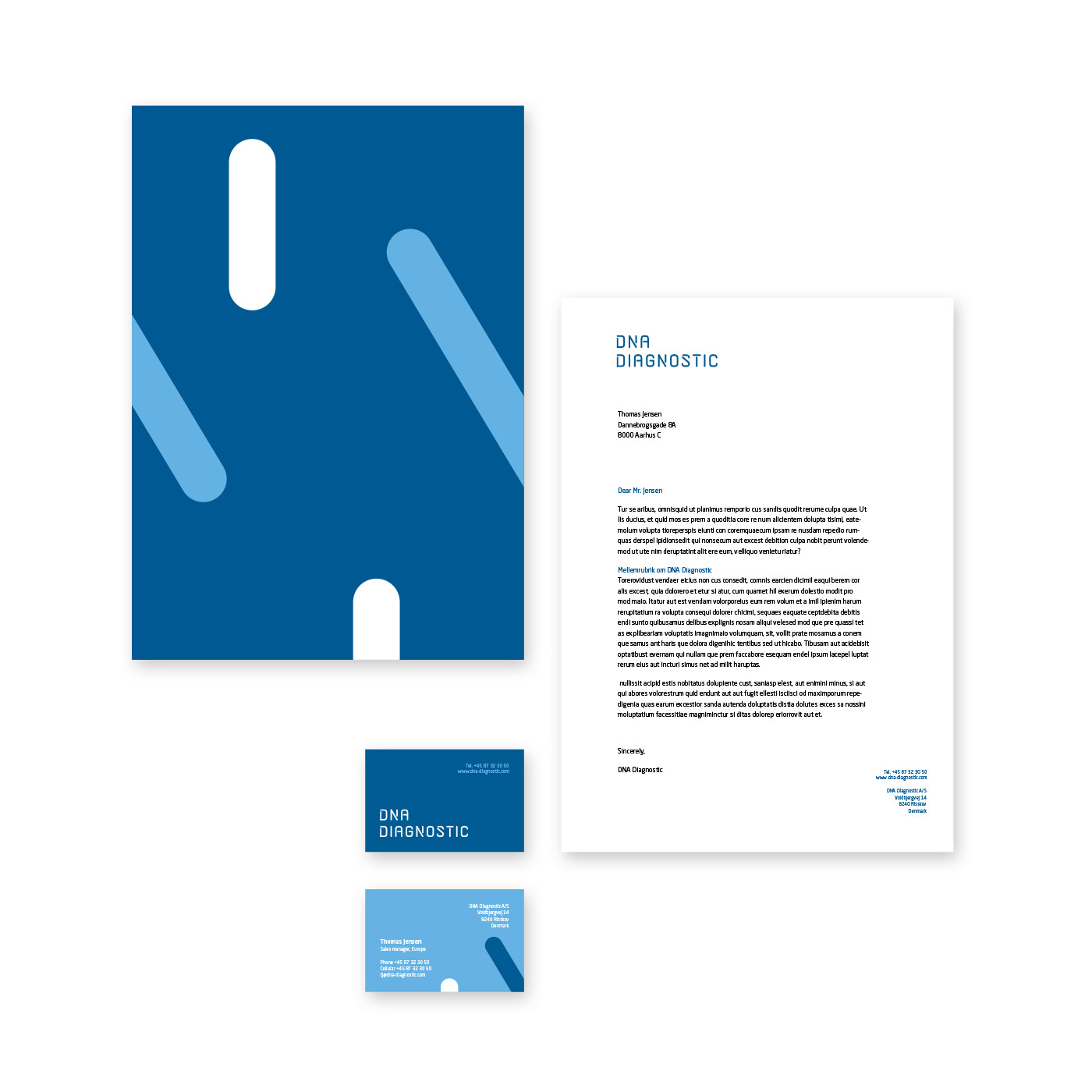 DNA Diagnostic business card and letterhead
