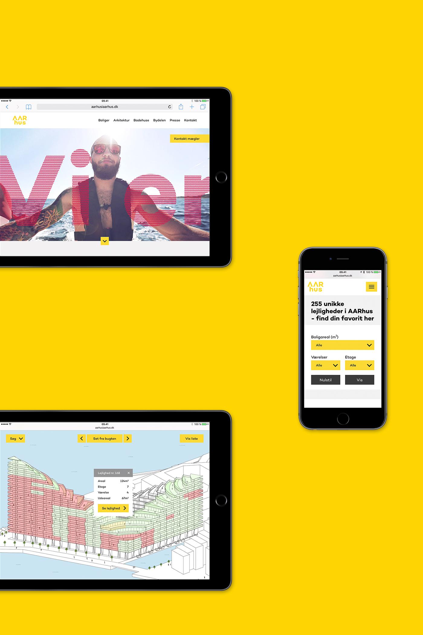 AARhus website displayed on devices